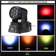 Lampu moving head beam light full color LED 7*10W LM005