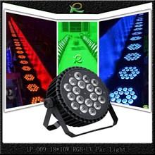 Lampu par UV mini flat full color 18*10W LP009