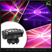 lampu lighting panggung spider moving head warna warni 8*10W LM003