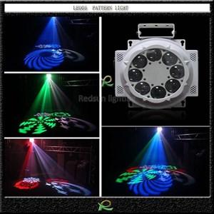 Lampu disko pub pattern gobo 8*10w lighting panggung cari agen di sulawesi