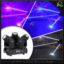 Lampu moving head 3 heads prestasi konser 3*10W cree LED LM018