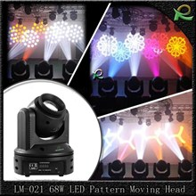 Lampu beam gobo pattern moving head stage light 30W LM021
