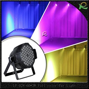 Lampu par 64 professional led light full color 60*3W LP028