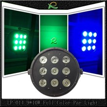 Lampu par led lighting panggung pipih full color 9*10W LP014