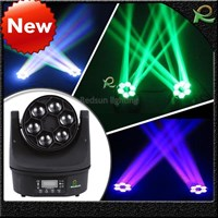 Lampu beam moving head mini bee mata spotlight 6*10W LM022