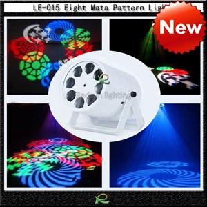 Lampu par gobos disko led pattern light LE015