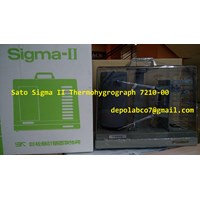 Jual THERMOHYGROGRAPH SATO SIGMA II 7210-00