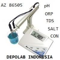 Jual BENCHTOP MULTIPARAMETER AZ 86505 PH  CON  TDS ORP  SALINITY METER RS232 2