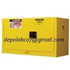 FLAMMABLE SAFETY CABINET PIGGYBACK 17 GALLON LEMARI ASAM FUME HOOD 1