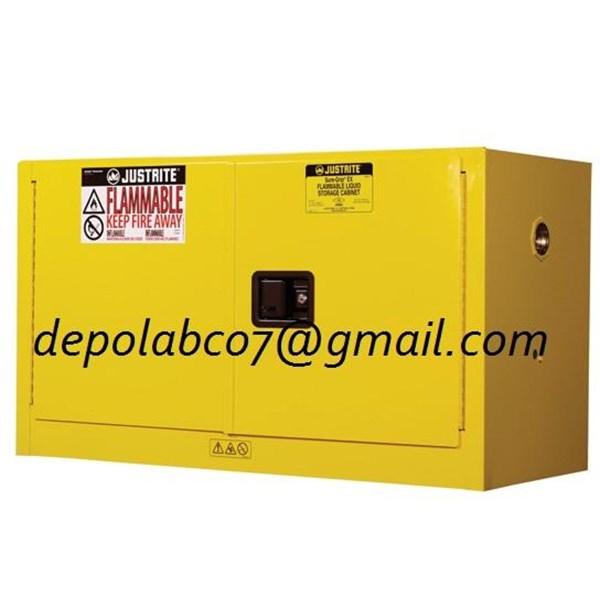 FLAMMABLE SAFETY CABINET PIGGYBACK 17 GALLON LEMARI ASAM FUME HOOD