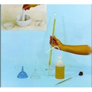 Funnel & Burrete & Evaporating Dish & Mortar And Pestle & Wash Bottle & Pipette & Crucibles