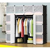 Plastic Products Plastic Closet Clothes 4 Door