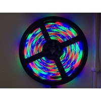 LED Strip Mata Kecil Outdoor Jelly Warna Warni + Remote Emico