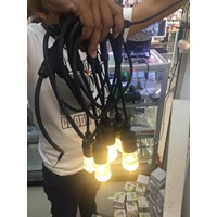 Outdoor Hanging Lamp 5 Meter + 6 Bulb 1W Warm White