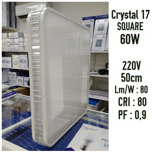 Crystal 17 Square 60 Watt Repro