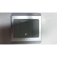 Saklar 1 Gang Dimmer Lampu Horisontal E3031HD Schn