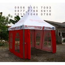 Tenda Sarnafil Branding dengan Jendela Kaca Mika