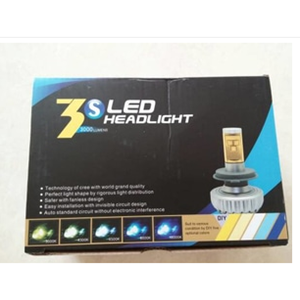 Multi Color 3S CREE LED Canbus Error Free Headlight Lampu Utama Mobil Aksesoris Mobil