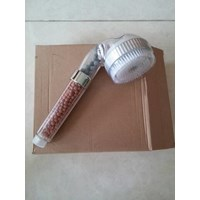 5in1 Mineral Ion Shower Head with Brush Shower Sisir Sikat Terapi Air