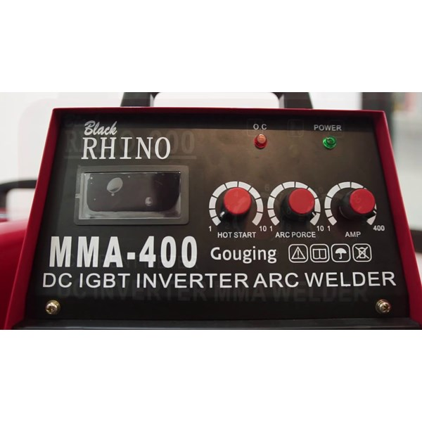 Mesin LasBlack Rhino MMA-400 (Gouging) IGBT Welder