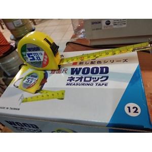 Meteran Roll merk Wood 5(Meter)