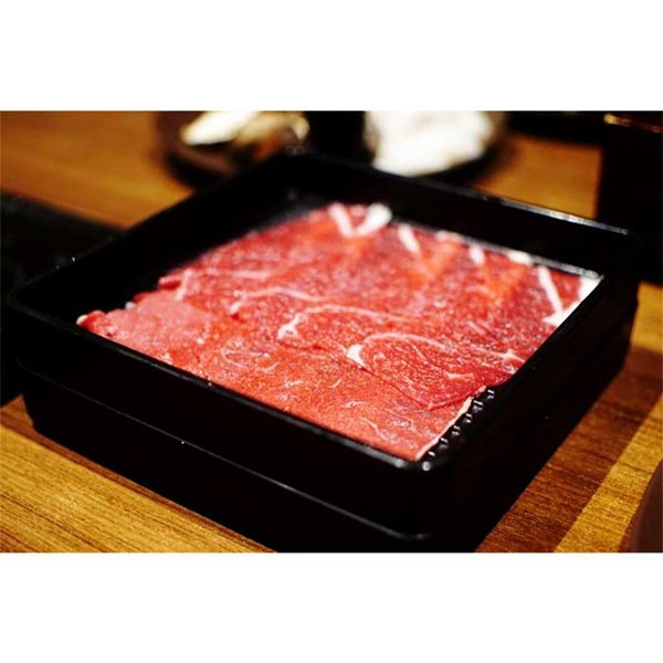 Place Meat Shabu Black Melamine