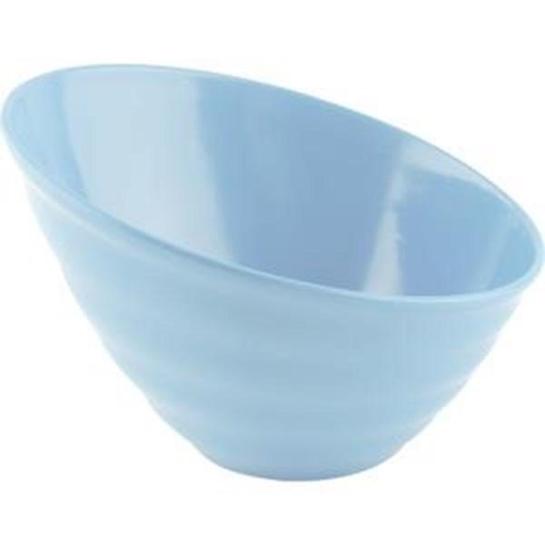 Mangkok Miring 7 Biru Muda - Glori Melamine 4770