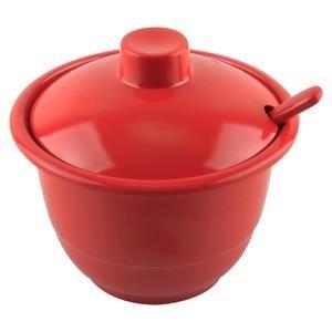 Mangkok - Mangkuk Sambal + Tutup + Sendok Merah - Glori Melamine 3803