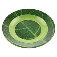 Concave Spot plate Leaf motif Jati 9 Inch