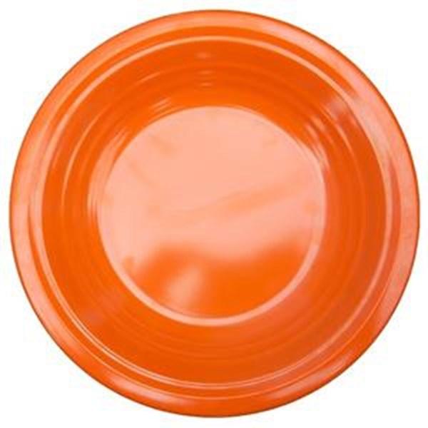Piring Makan Ulir 9.5 inch Orange - Ifiancy Melamine 2310