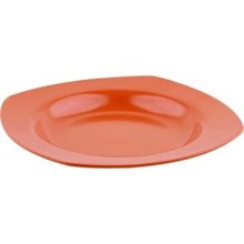 Piring Cekung Segiempat 9 inch Orange - Ifiancy Melamine 2090