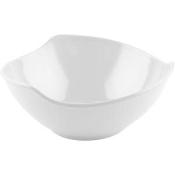 Mangkok - Mangkuk Gelombang 7 inch Putih - Glori Melamine 4870