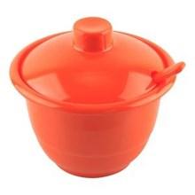 Mangkok Sambal + Tutup + Sendok  4.5 inch Orange -