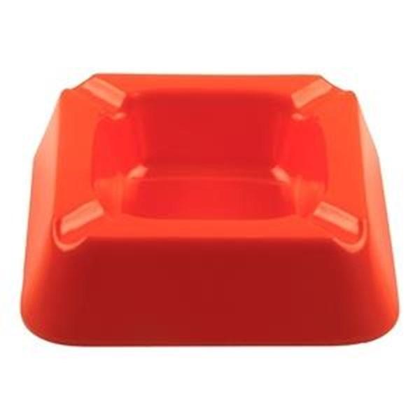 Asbak Segi Empat 5 inch Orange - Glori Melamine 3001