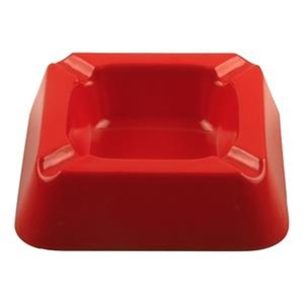 Asbak Segi Empat 5 inch Merah - Glori Melamine 3001