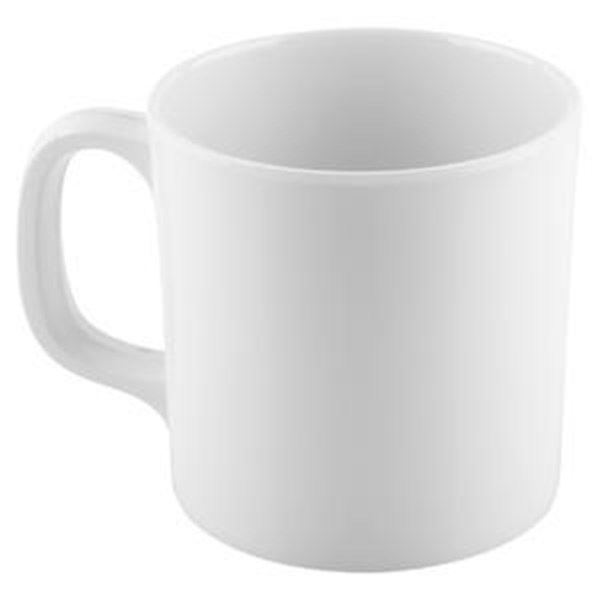 Cangkir Sedang 300 ml Putih - Glori Melamine 975