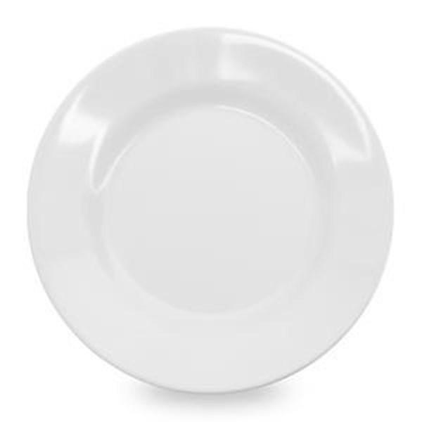 Piring Makan Ceper 9 inch Putih - Glori Melamine 2190