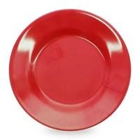 Piring Makan Ceper 9 inch Merah - Glori Melamine 2190