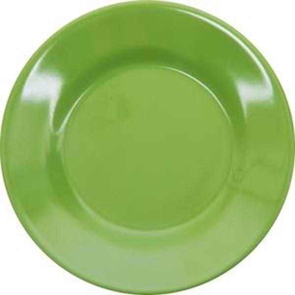 Piring Makan Ceper 8 inch Hijau - Glori Melamine 2180