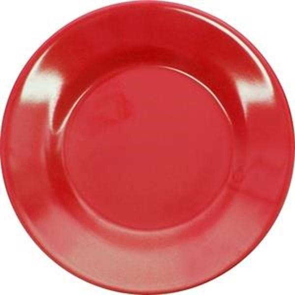 Piring Makan Ceper 7 inch Merah - Glori Melamine 2170