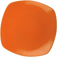 Piring Ceper Segi Empat 10 inch Orange - Glori Melamine 2410