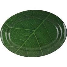 Piring Oval Motif Daun Jati 12 inch - Ifiancy Mela