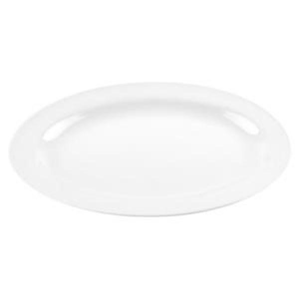 Piring Oval 14 inch Putih - Glori Melamine 6314