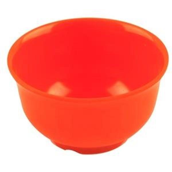 Mangkok - Mangkuk Nasi 4.5 inch Orange - Glori Melamine 4145