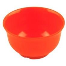Mangkok - Mangkuk Nasi 3.5 inch Orange - Glori Melamine 4135