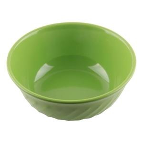 "GLORI MELAMINE Soup Bowl-4380 Waves 8 ""inch Green"
