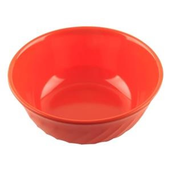 Mangkok - Mangkuk Sop Ombak 8 inch Orange - Glori Melamine 4380