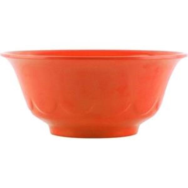 Mangkok - Mangkuk Ukir 6 inch Orange - Glori Melamine 4060