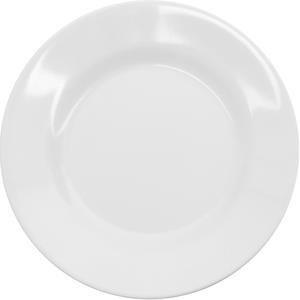 Piring Makan Ceper 10 inch Putih - Glori Melamine 2110