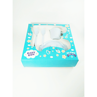 Produk dan Peralatan Bayi Set Alat Makan Bayi (Baby Set Melamine) Glori Melamine SET.001.BM - Biru Muda